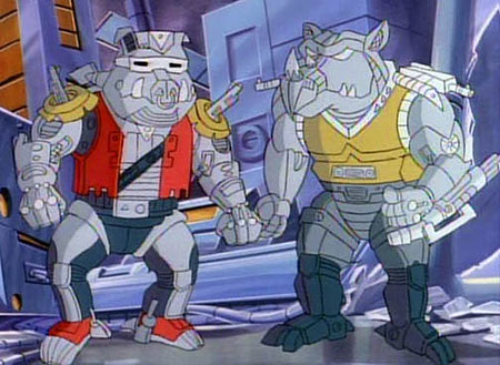 Robotic Bebop and Rocksteady