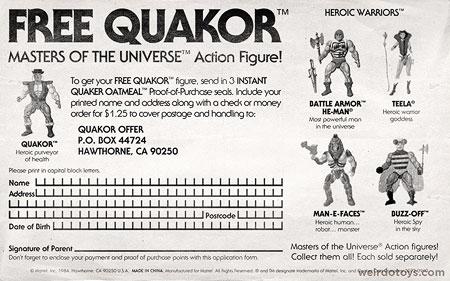 Quakor Order Form