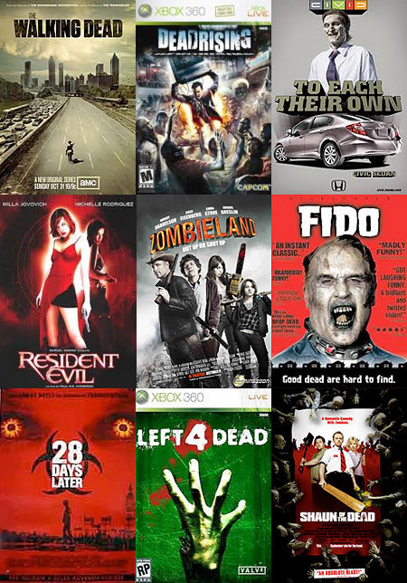 Zombie Movies, Comics and Commercials